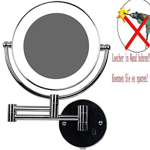 LOYWE LED Beleuchter Kosmetikspiegel 1x+5x Vergrößerung, Infrarot-Sensor