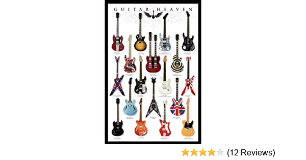 Kunstdruck Poster Guitar Heaven Gitarren Himmel Guitars Bild 61 x 91,5 cm