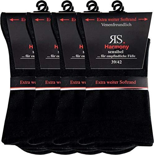 RS. Harmony   Gesundheitsstrümpfe für Damen   Sensibel Dark   8 Paar   schwarz   39-42