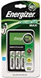 Energizer Original Maxi Ladegerät für AA und AAA Akku (4 AA Akku, 2000mAh)
