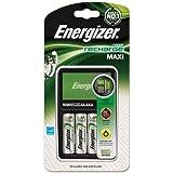 Chargeur Energizer d'origine Maxi pour AA et AAA batterie (4 piles AA, 2000mAh)