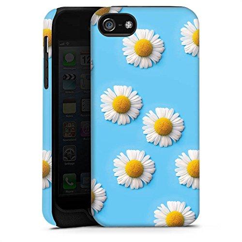 Apple iPhone X Silikon Hülle Case Schutzhülle Gänseblümchen Blumen Blüten Tough Case matt