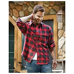Men's Browning Kamas Long-sleeved Plaid Shirt, TAHOE, M by BROWNING