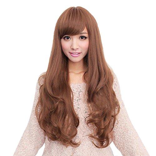 De la manera Sexy Cexin funda tipo libro para pelo barato largo y ondulado de pelo rizado de las pelucas de Material sintético de la fiesta de las pelucas pantalones de deporte para mujer cuidado de la peluca de ratón