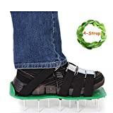 Kyerivs Lawn Aerator Spike Shoes Updated 4 Straps with Heavy Duty Buckles Lawn