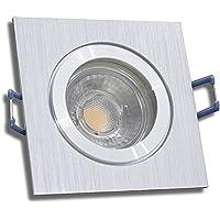 // Neutralwei/ß 1 St/ück IP54 MCOB LED Bad Einbaustrahler Rain 230 Volt 5 Watt Edelstahl geb