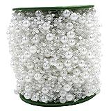 60m/Roll Perlenkette Perlengirlande Hochzeit Tischdeko Rose Weiß