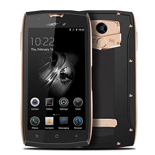 Blackview BV7000 Pro Outdoor Smartphone IP68 Wasserdicht Stoßfest Staubdicht 5 Zoll Octa Core Handy 4GB RAM 64GB ROM mit Fingerabdruck Sensor - Gold
