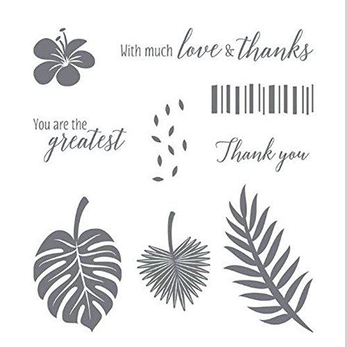 You Are The Greatest Blumen Blätter DR-Code DIY Silikon Klar Stempel Blatt Scrapbooking DIY Album Foto (Blätter Stempel)