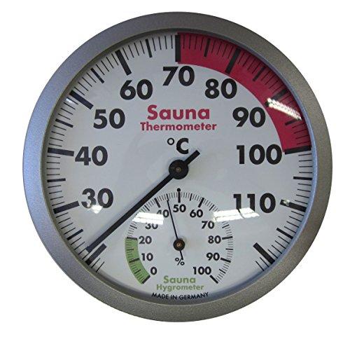 TFA Dostmann Analoges Sauna-Thermo-Hygrometer, hitzebeständige Materialien, Temperatur,...