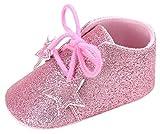 Eozy Babyschuhe Mädchen Glitzer Lauflernschuhe Festliche Schuhe Taufschuhe Pink Fußlänge bis 11cm