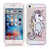 Coque iPhone 5 5S SE, E-Unicorn Housse Étui Coque Apple iPhone 5 5S SE Transparent...