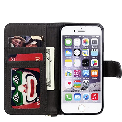 JIALUN-Telefon Fall Weaving Pattern PU Leder Schutzhülle Brieftasche Stand Case mit Card Slots und Foto Frame für Apple IPhone 6S 4.7 ( Color : 3 , Size : IPhone 6S 4.7 ) 3