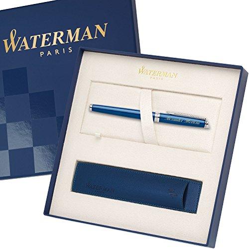 WATERMAN Tintenroller HEMISPHERE Essential Blau C.C. 1904600 mit persönlicher Laser-Gravur mit...