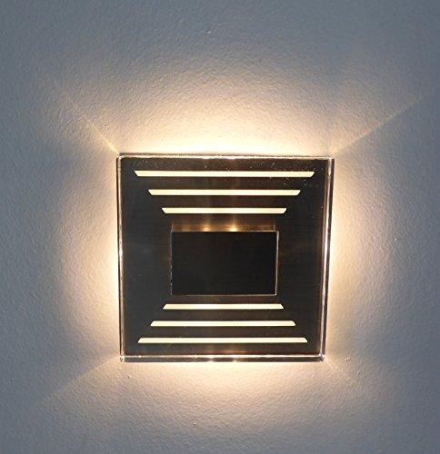1 x IP44 Design LED Treppenbeleuchtung Wandstrahler 230V 3000K warmweiss Trango TGSL-013
