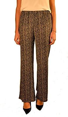 Hope1967 - Pantalón de Mujer Lux Espiga negro