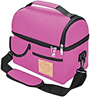 RICH & FAMOUS Lunch Bag Insulated Leak Proof, Size 24x21x15cm, Lunch Box with Shoulder Strap, Warm/Cold Fo