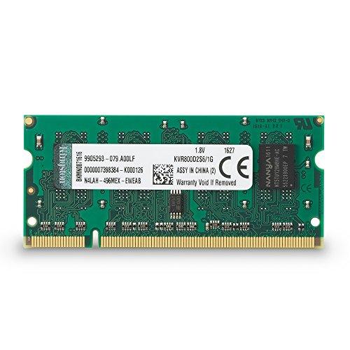 Ddr2-sdram-sodimm-200 Pin (Kingston KVR800D2S6/1G Arbeitsspeicher 1GB (DDR2 Non-ECC CL6 SODIMM, 200-pin, 1.8V))