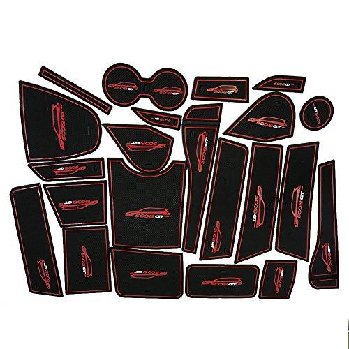 Preisvergleich Produktbild LFOTPP 500801 Gummimatten Anti Rutsch Matten Auto Styling Innentür Pad Schwarz