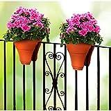 Blumentopf fürs Geländer Blumenkasten für Balkongelände Balkontopf Pflanzgefäß