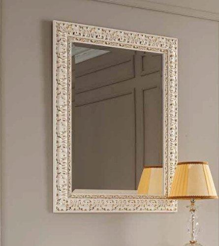 Specchiera avorio e oro con specchio molato 73x93 (avorio/oro)