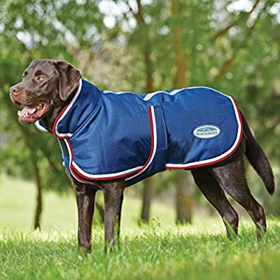 Weatherbeeta Parka 1200D 220g Belly Flap Dog Rug - Navy/Red/White - low-cost UK light store.