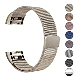Swees Milanese Fitbit Charge 2 Armband, Ersatzarmband Edelstahl Fitbit Charge 2 Wrist Band Strap, Small-Large (5.5'-9.9')