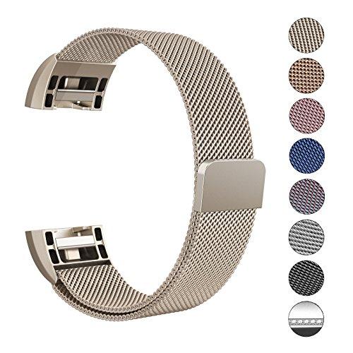 "Swees Milanese Fitbit Charge 2 Armband, Ersatzarmband Edelstahl Wrist Band Strap, Small-Large (5.5""-9.9"")"