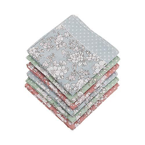 HOULIFE 6 Stücke Damen Blumen Taschentücher aus reiner Baumwolle 45x45cm 3 Farben für Alltagsgebrauch