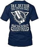 Stylisches T-Shirt Damen / Herren / Unisex von Teespring   Originelles Outfit für jeden Anlass und lustige Geschenksidee - TILE SETTER