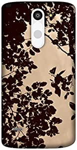 The Racoon Lean leafy hard plastic printed back case / cover for LG G3 Stylus