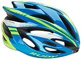 Rudy Project Rush Helmet Azur-Lime Fluo (Shiny) Kopfumfang 51-55 cm 2017 mountainbike helm downhill