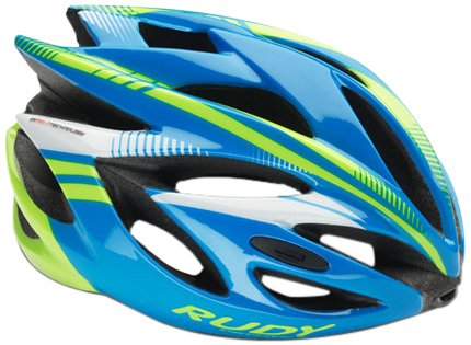 Rudy Project Rush Casco, Blue/Lime Fluo Shiny, L