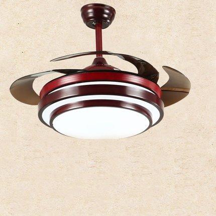 Fan decke ventilator licht unsichtbar solide holz schlafzimmer restaurant studie chinesischen stil lampe klassische-C 55 Zoll Fernbedienung (C-rahmen-motor)