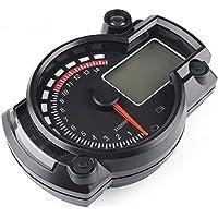 SODIAL Velocimetro Digital LCD RX2N ATV de Motocicleta LED de 7 Colores Medidor tacometro 15000rpm