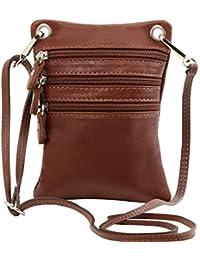 Tuscany Leather - TL Bag - Sac bandoulière en cuir souple - Marron