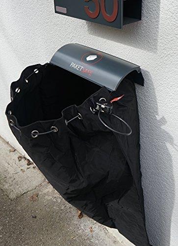 PAKETSAFE – platzsparender Paketsack mit hochwertiger Edestahloptik (anthrazit) - 4