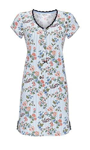 Ringella Lingerie Damen Nachthemd mit Knopfleiste Blue Bell 40 9261009, Blue Bell, 40