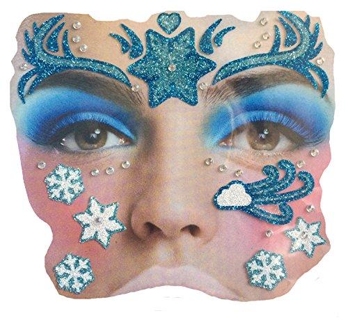 Gesichts Tattoo Face Art Halloween Karneval Eisprinzessin