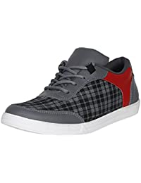 UrbanwhiZ Emosis Stylish Blue Red Casual Office Corporate Party Wear Canvas Lace-up Derby Shoes Men