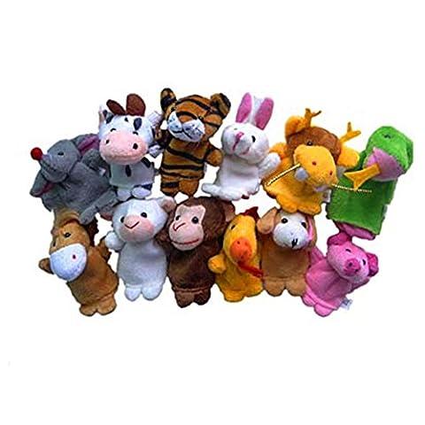 Baby Finger Puppets Kolylong 2pcs Animal Finger Puppet Plush Child Baby Early Education Toys Gift