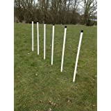 6 pole agility weave set with spacing webbing for dog agility training. (due to amazons new postage policy we can only post this item to mainland uk
