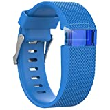 Poignet de remplacement HR Fitbit Charge, Coolfun Soft Durable Silicone Band Strap...