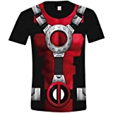 Deadpool Costume Camiseta Negro