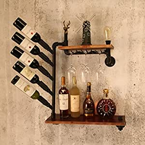 wandmontiertes weinregal an der wand befestigte wein zahnstangen retro. Black Bedroom Furniture Sets. Home Design Ideas
