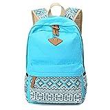 Rucksack damen Teenager Groß Schulrucksack Casual Daypack Reisetasche mit Mäppchen für Universität Outdoor Freizeit