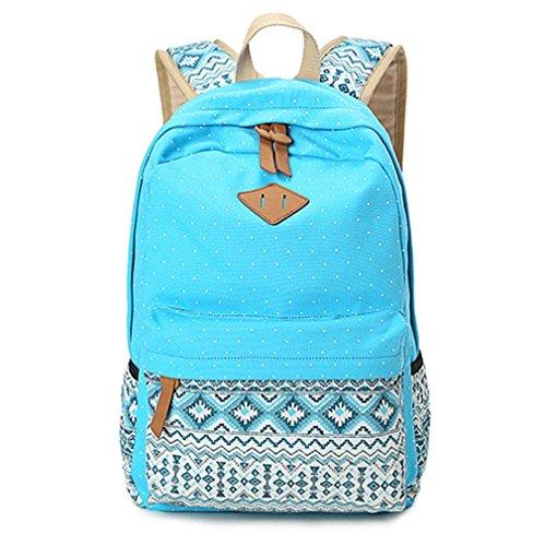 Rucksack damen Teenager Groß Schulrucksack Casual Daypack Reisetasche mit Mäppchen für Universität Outdoor Freizeit (Magazin Geladene)