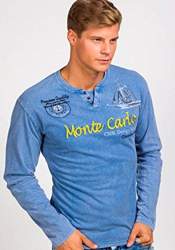 BOLF Herren Longsleeve Langarmshirt Sweatshirt Poloshirt T-Shirt Mix 1A1 Motiv Blau_2728