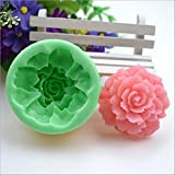 ecosway 3D Blume Series Silikon Form, Schokolade, Pudding, Fondant, Mousse Kuchen Dekoration Backform, Handarbeit Seife, Kerze, Clay DIY zu Werkzeug, zufällige Farbe Flowers 3#