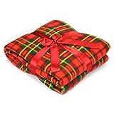 Karierte Fleece-Decke 100 % Polyester 120x 150cm 150x 200cm, 100 % Polyester, rot kariert, 150 x 200cm